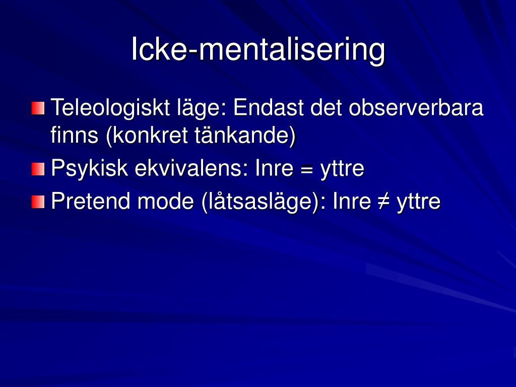 Icke-mentalisering