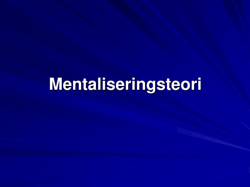 Mentaliseringsteori