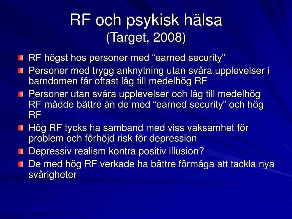 RF och psykisk hälsa