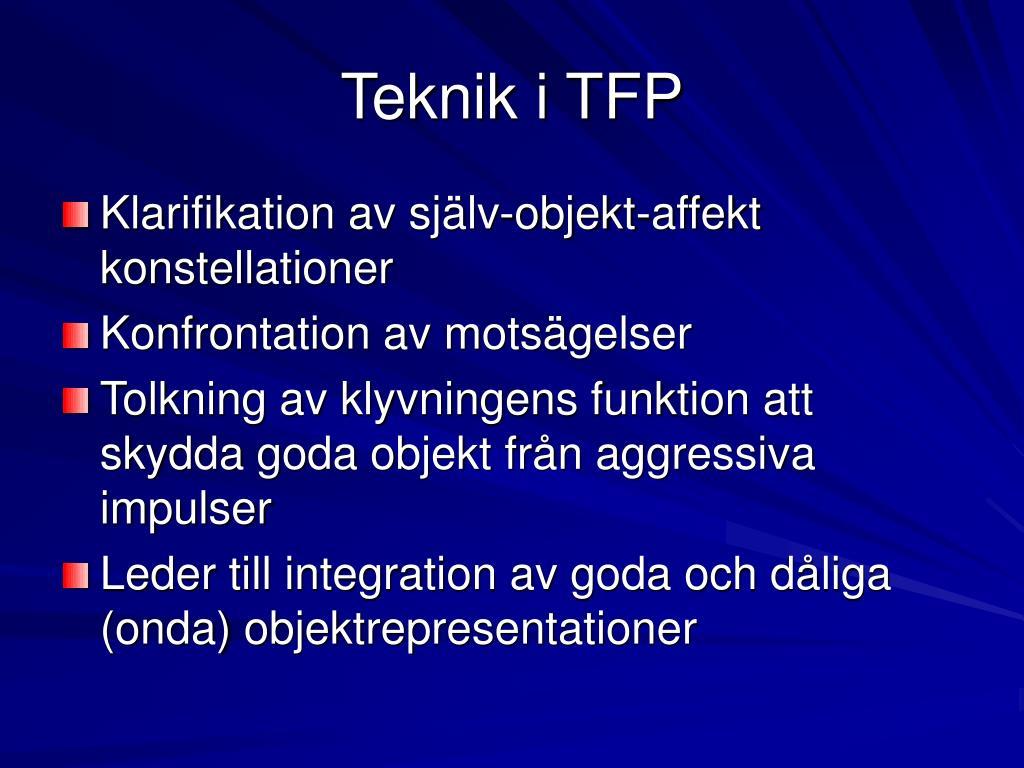 Teknik i TFP