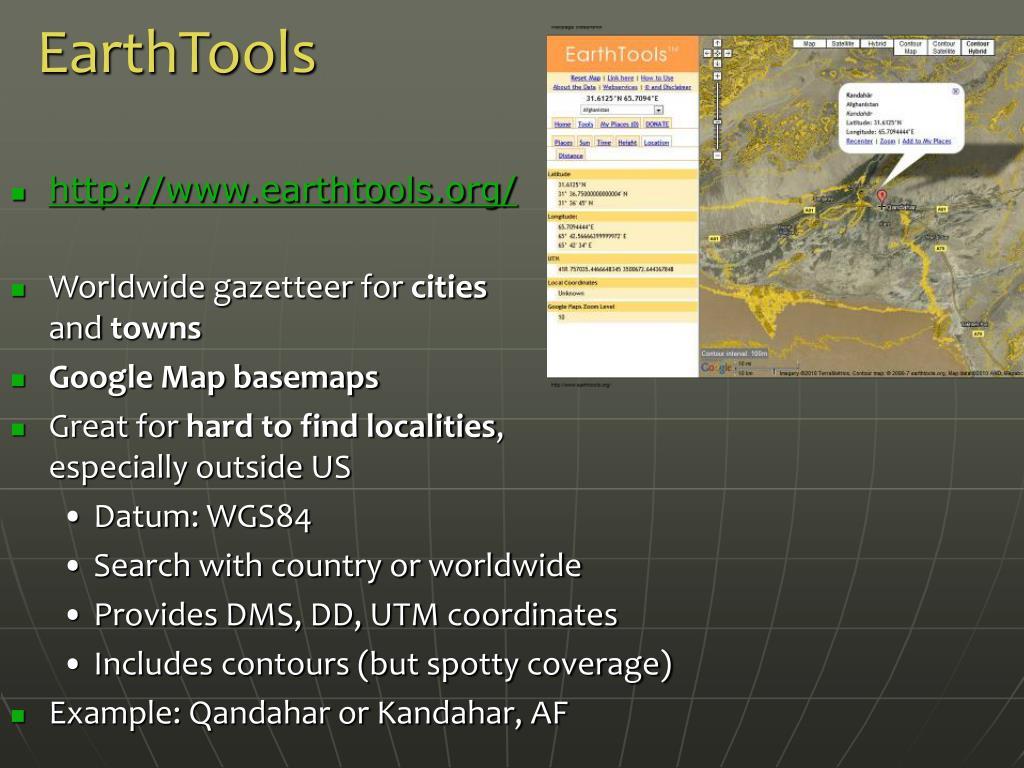 EarthTools