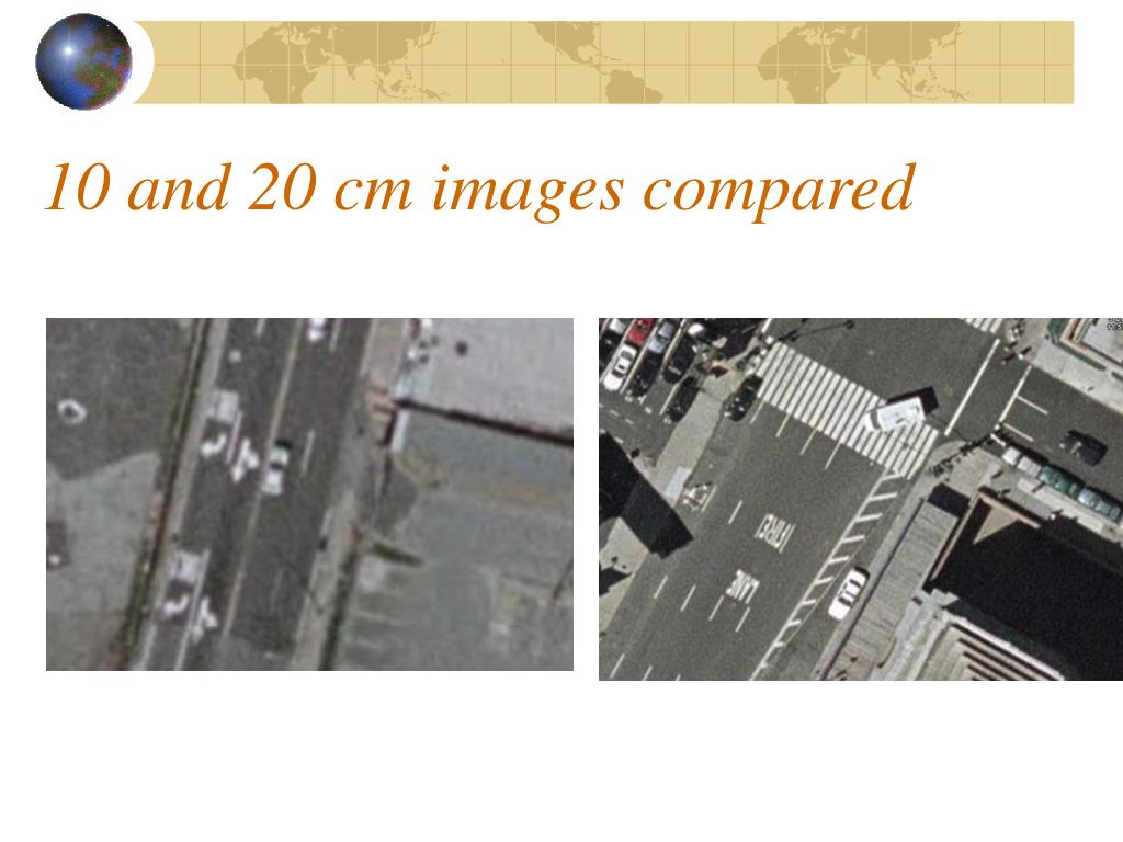 10 and 20 cm images compared