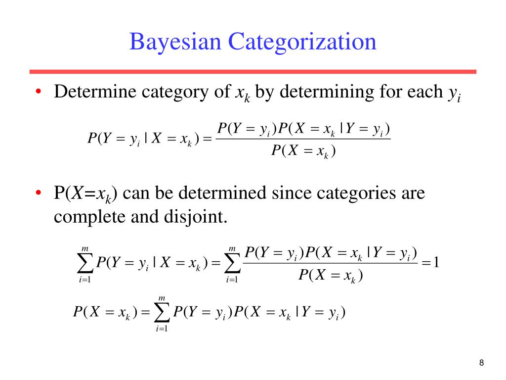 Bayesian Categorization