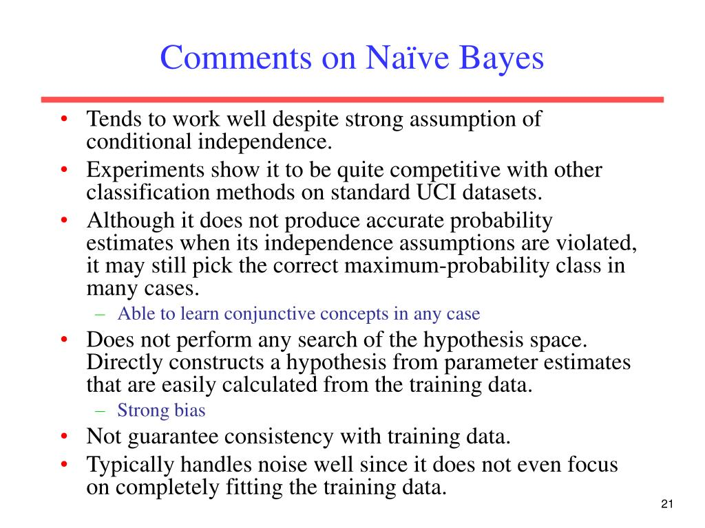 Comments on Naïve Bayes