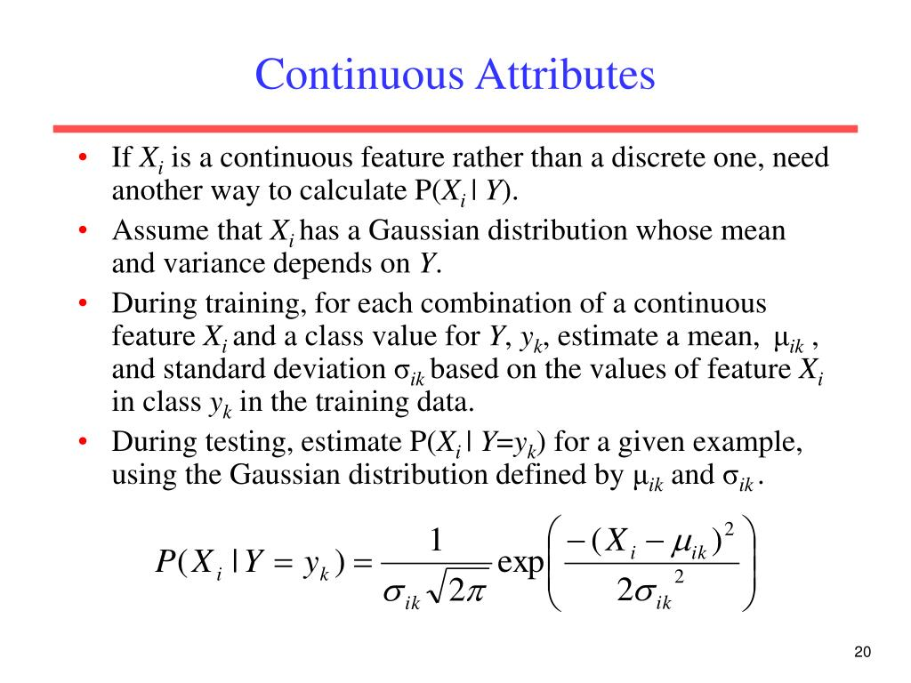 Continuous Attributes