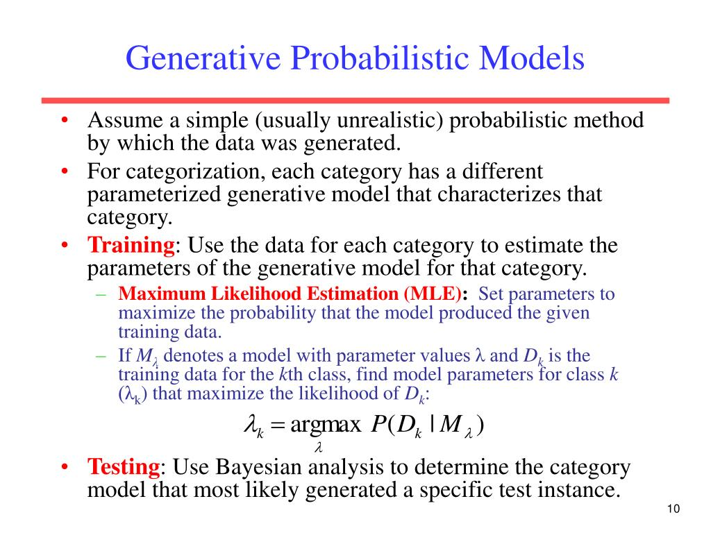 Generative Probabilistic Models