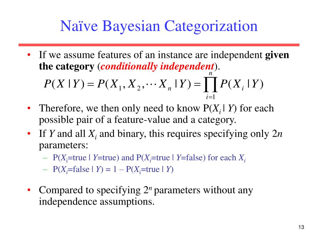 Naïve Bayesian Categorization