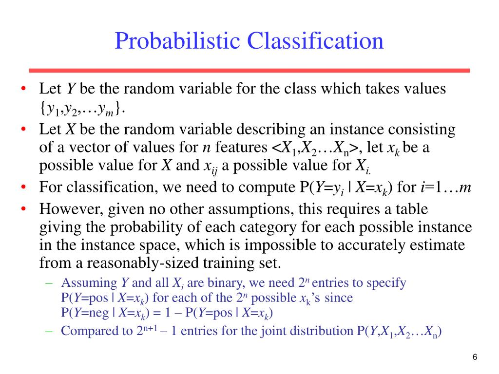 Probabilistic Classification