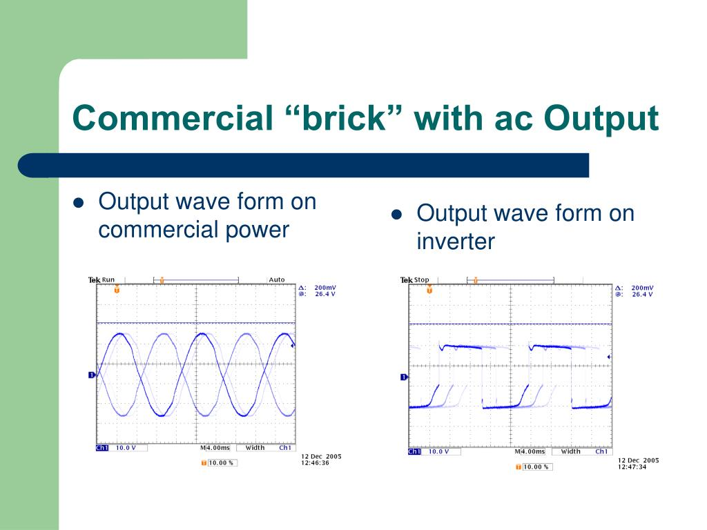 "Commercial ""brick"" with ac Output"