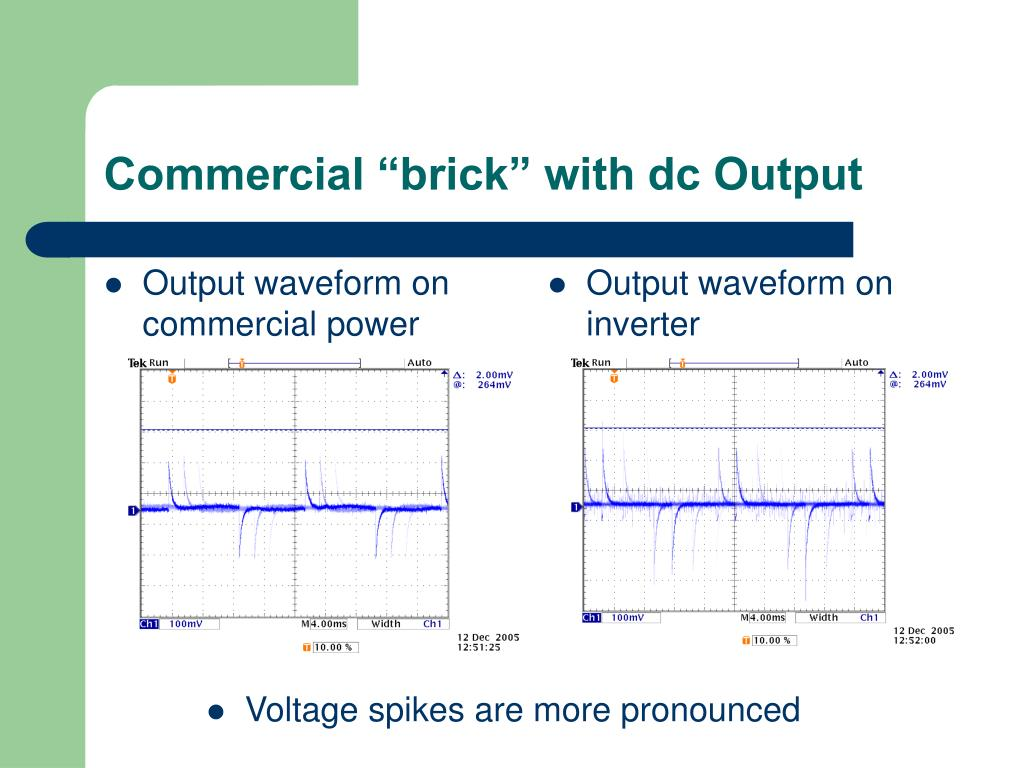 "Commercial ""brick"" with dc Output"