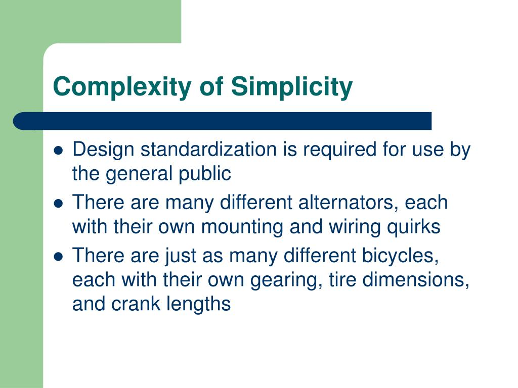 Complexity of Simplicity