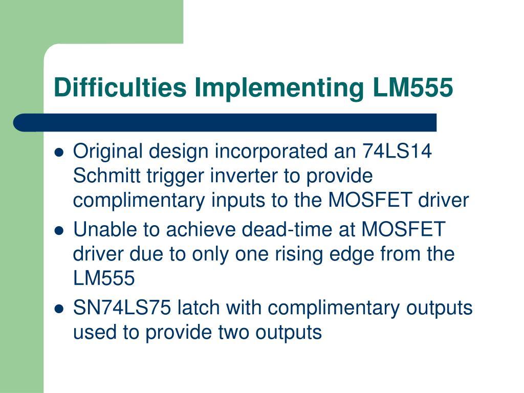 Difficulties Implementing LM555