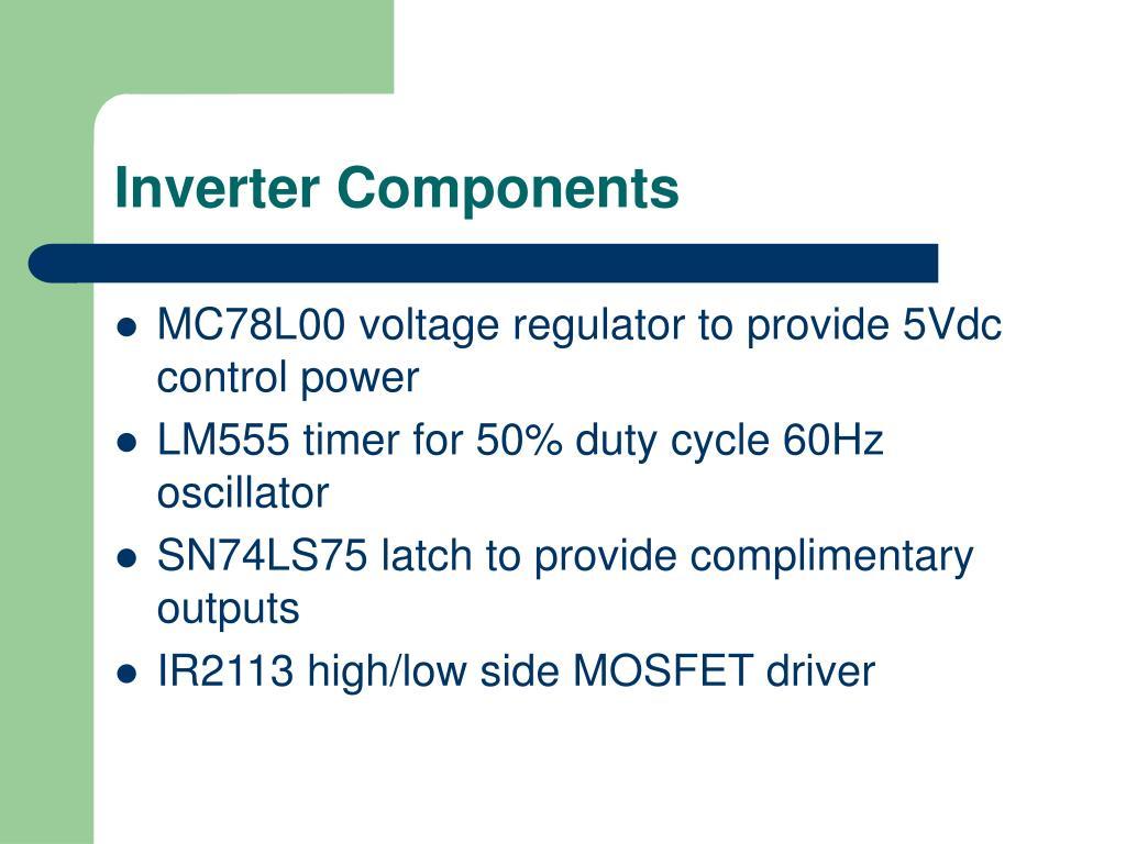 Inverter Components