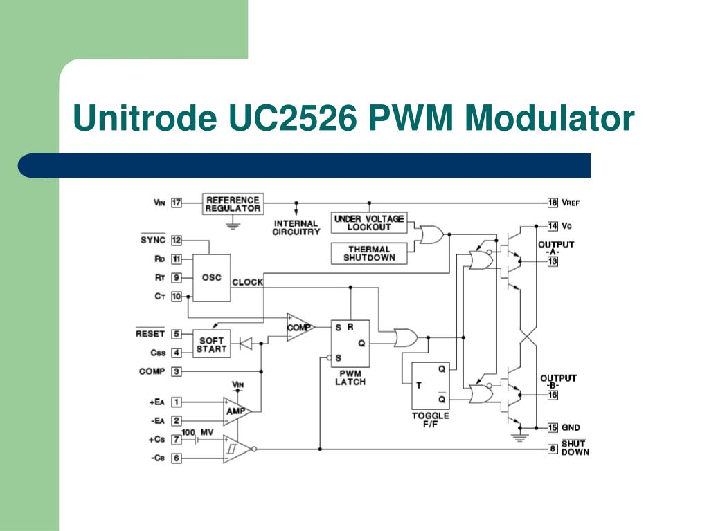 Unitrode UC2526 PWM Modulator