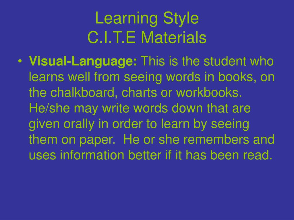 Learning Style