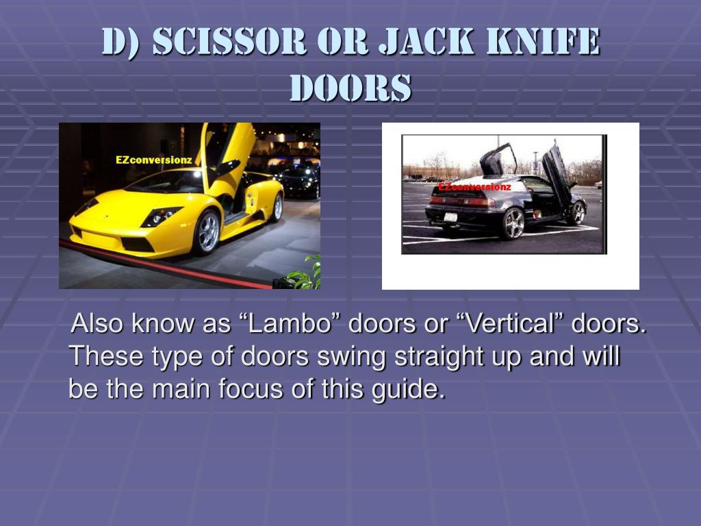 D) Scissor or Jack Knife Doors