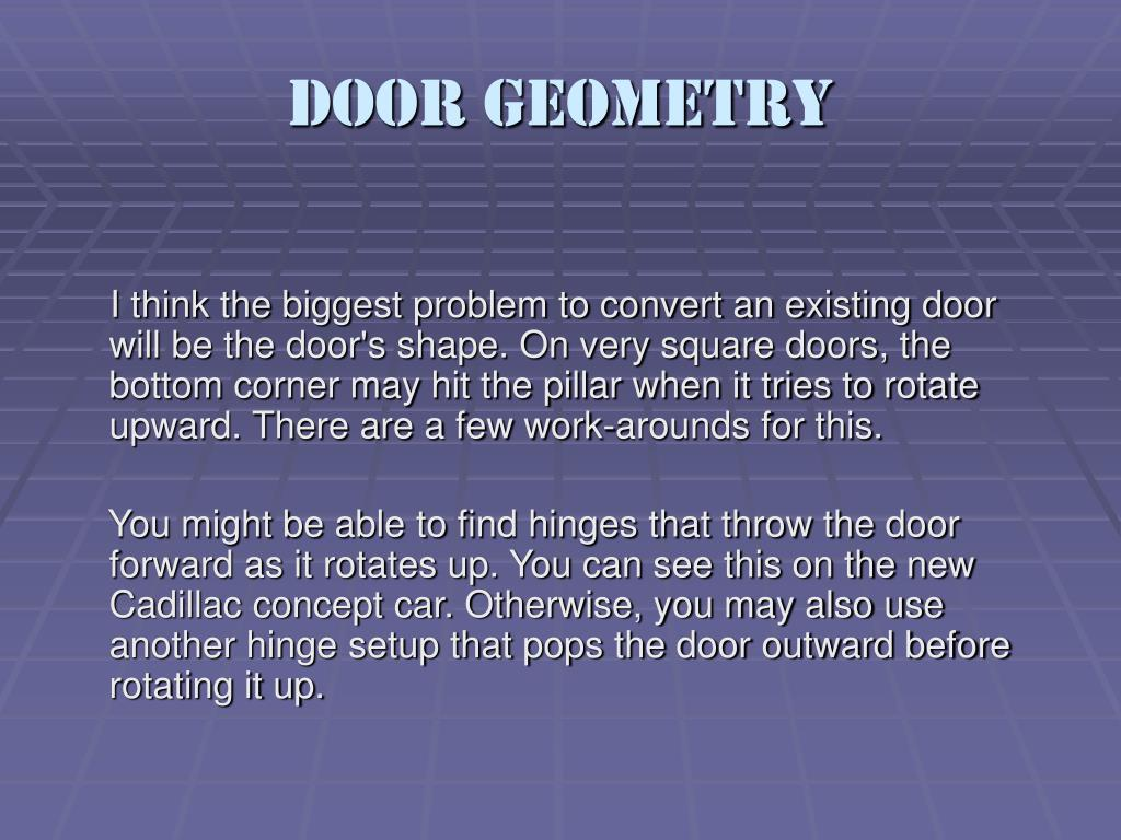 Door Geometry