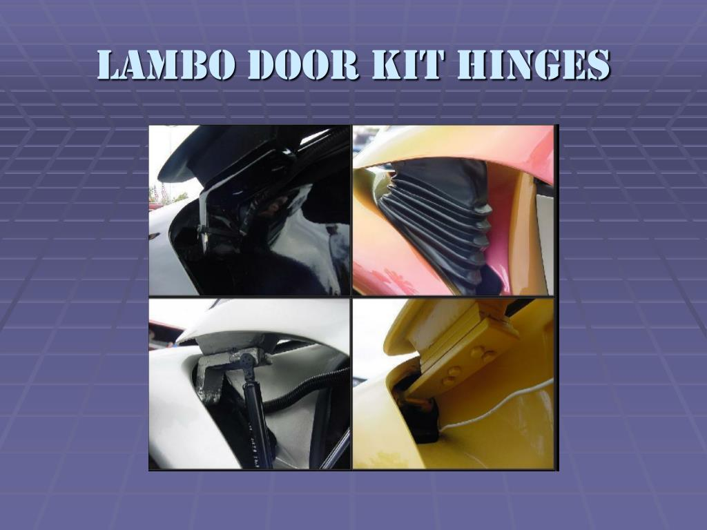 Lambo door kit hinges