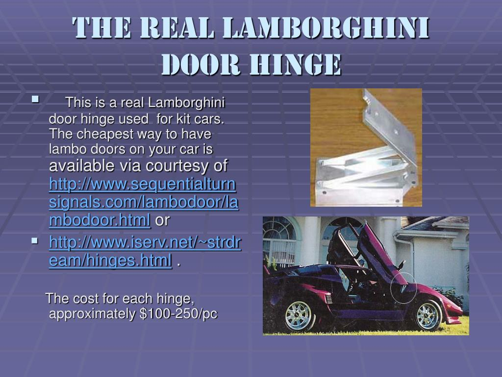 The real Lamborghini door hinge