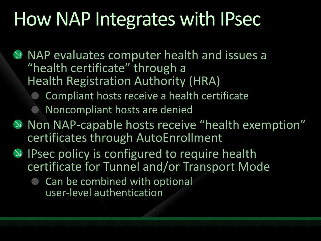 How NAP Integrates with IPsec