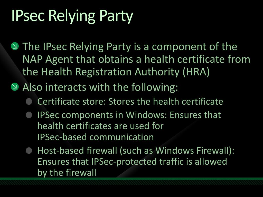 IPsec Relying Party