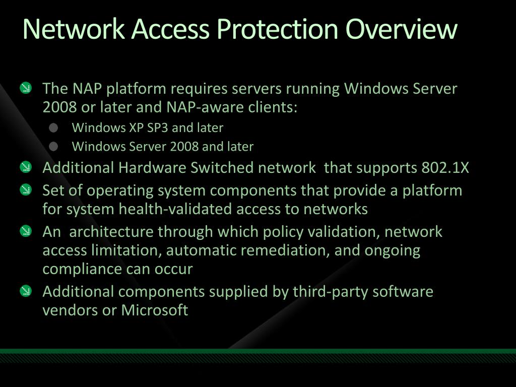 Network Access Protection Overview