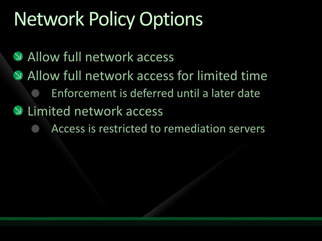 Network Policy Options
