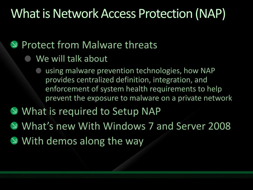 What is Network Access Protection (NAP)