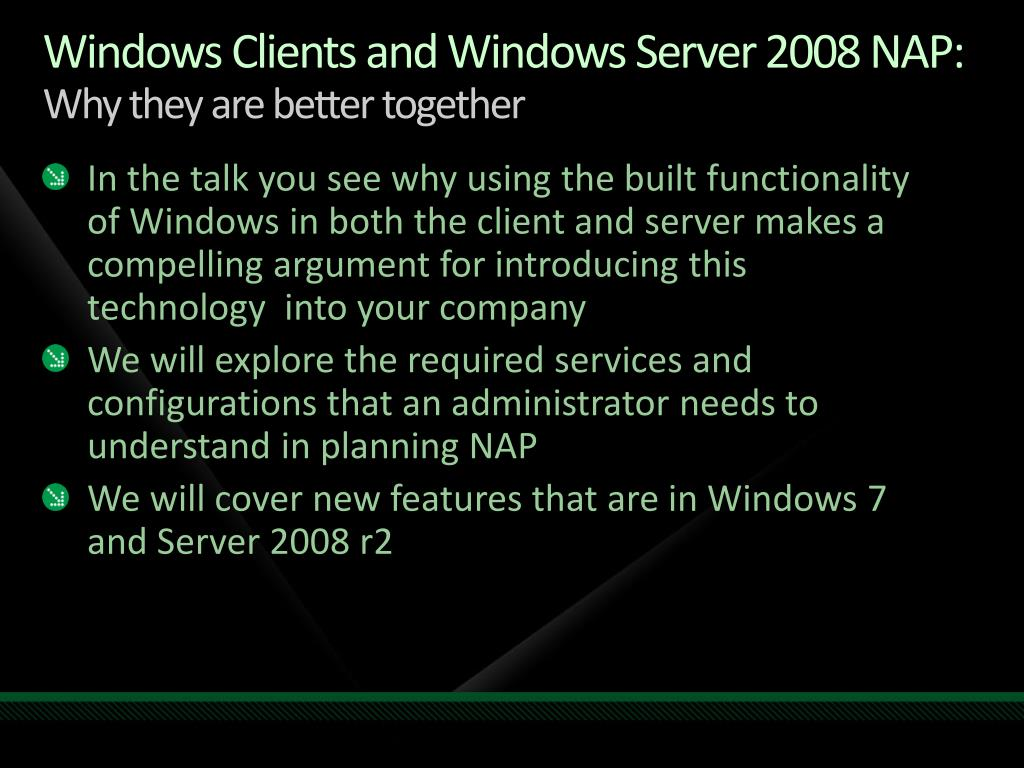 Windows Clients and Windows Server 2008 NAP: