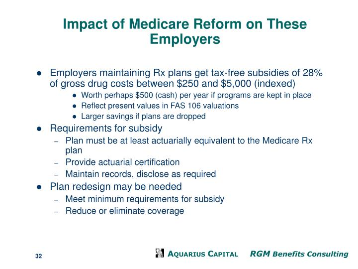 Impact of Medicare Reform on These Employers