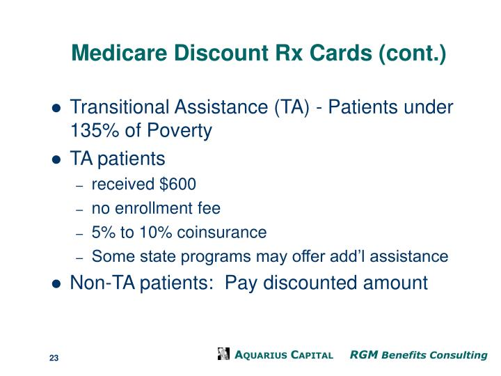 Medicare Discount Rx Cards (cont.)