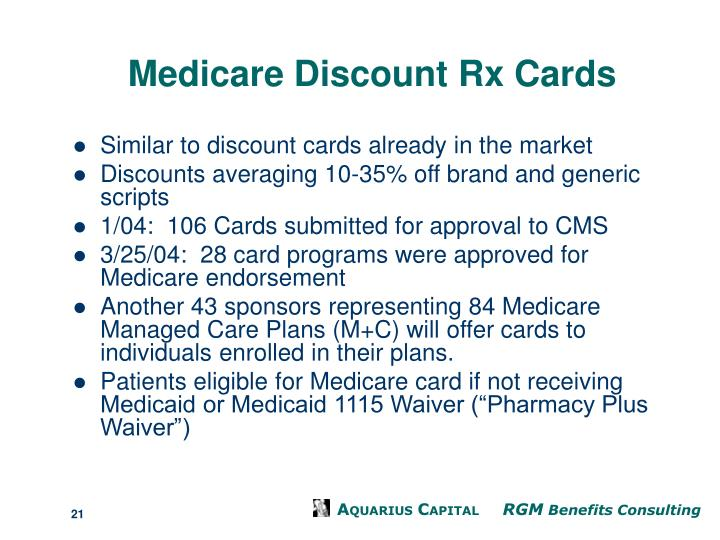 Medicare Discount Rx Cards