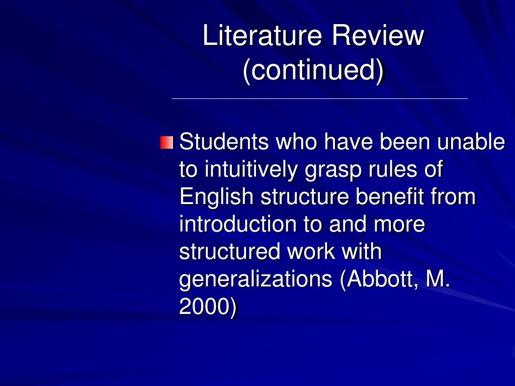 Literature Review (continued)