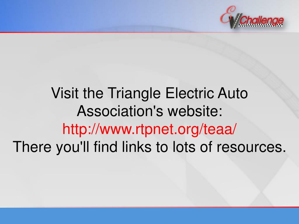 Visit the Triangle Electric Auto Association's website:
