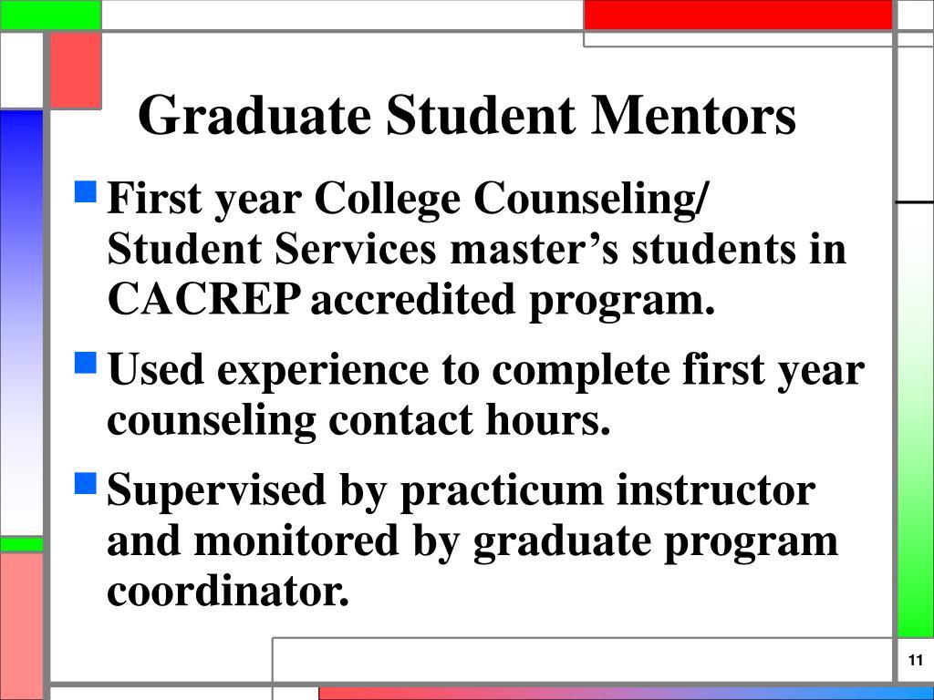 Graduate Student Mentors