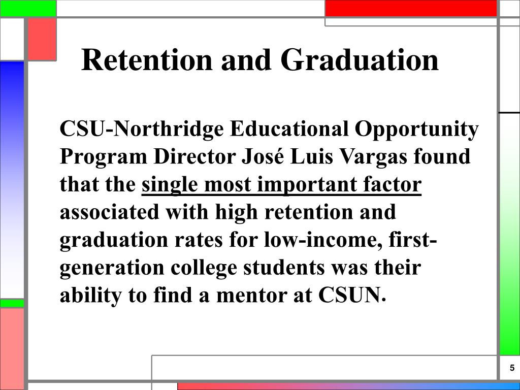 Retention and Graduation