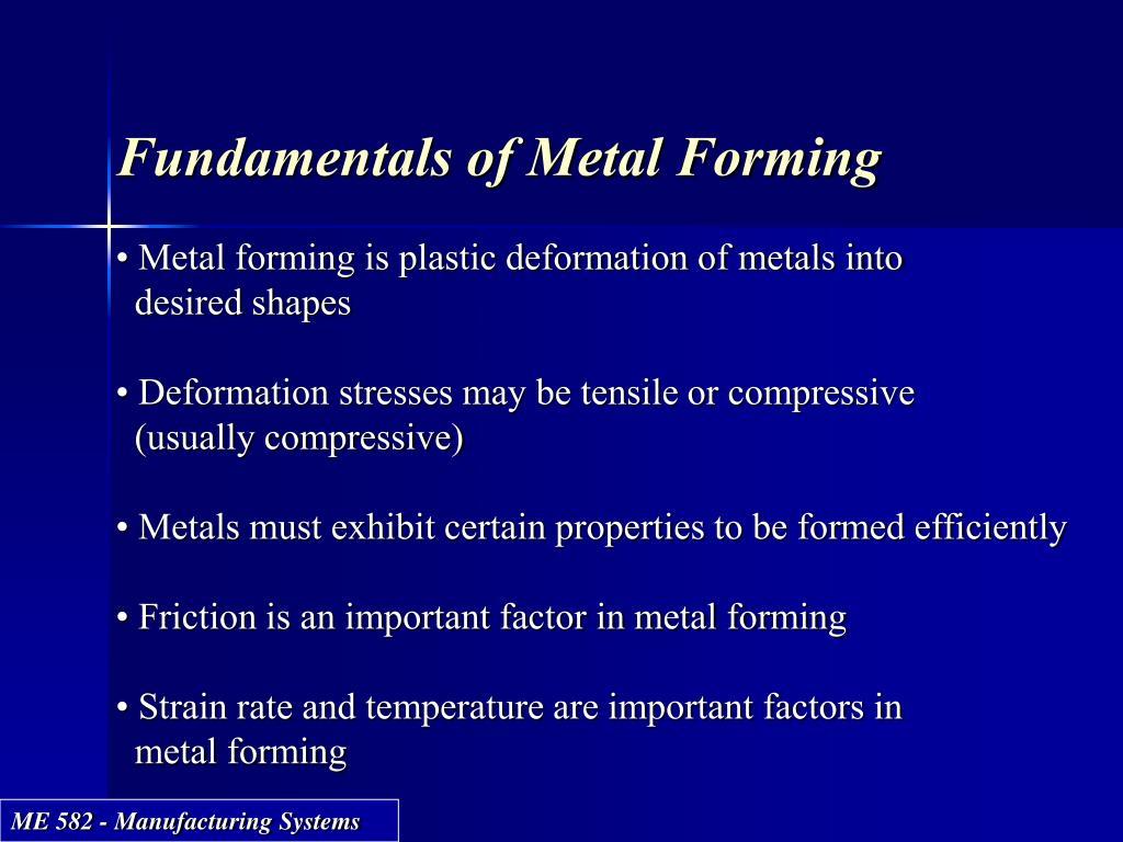 Fundamentals of Metal Forming