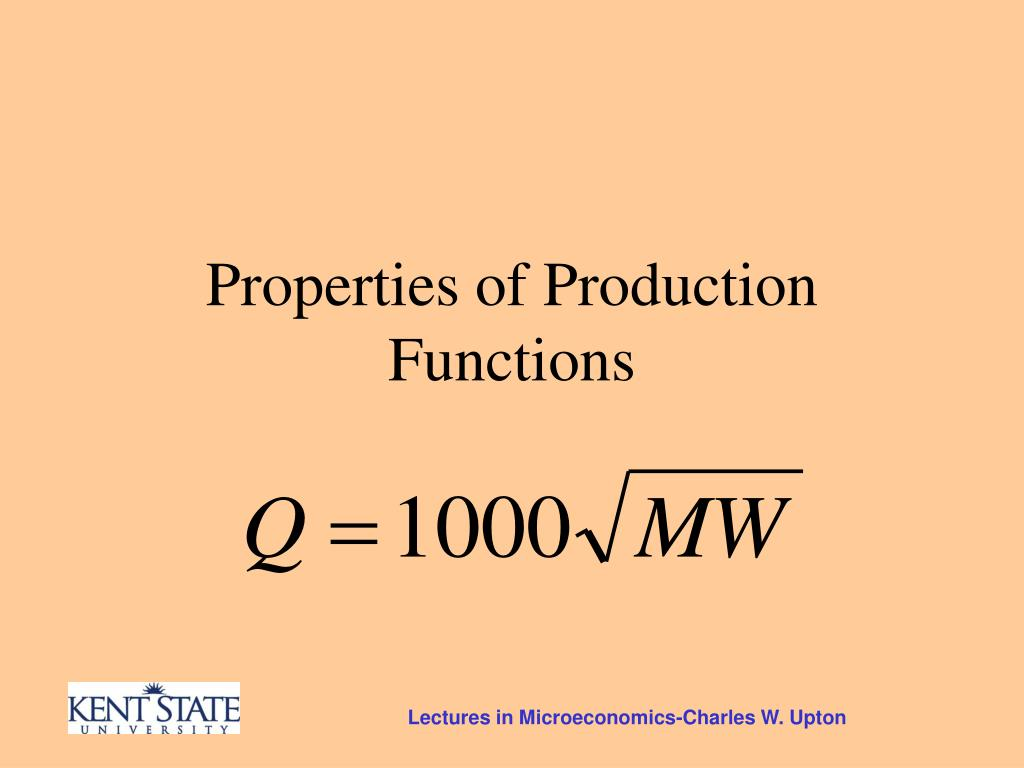 Properties of Production Functions