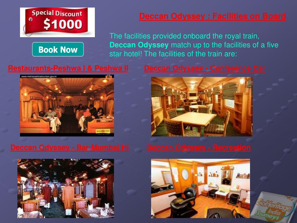Deccan Odyssey : Facilities on Board