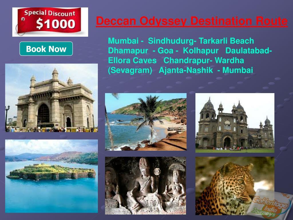 Deccan Odyssey Destination Route