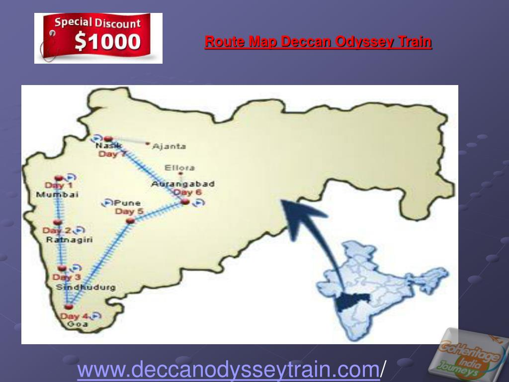 Route Map Deccan Odyssey Train