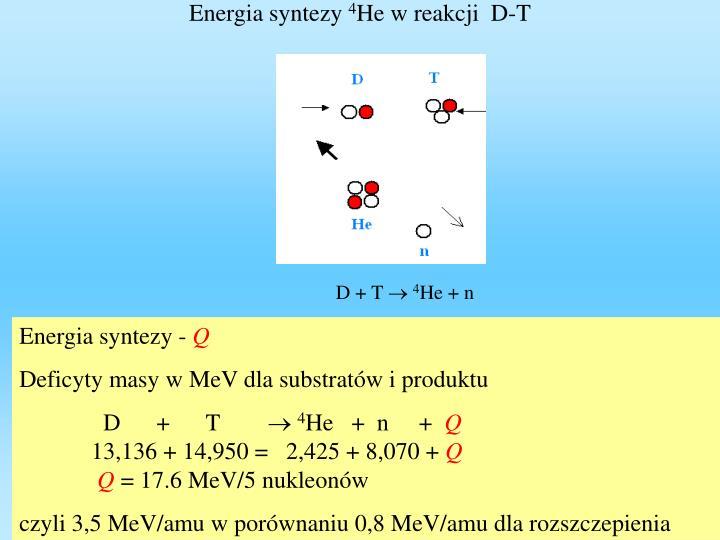 Energia syntezy
