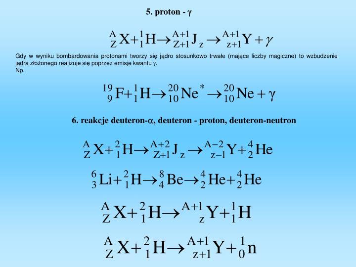 5. proton -