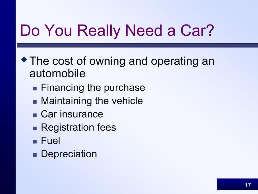 Do You Really Need a Car?
