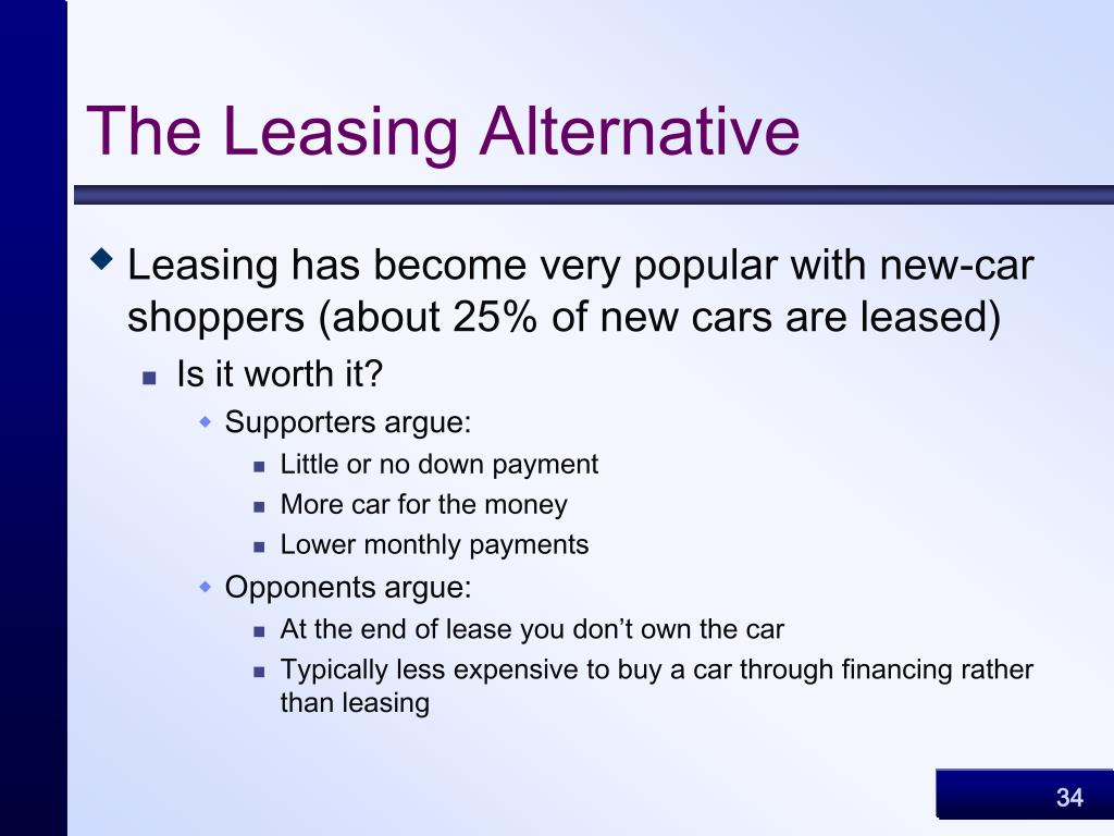 The Leasing Alternative