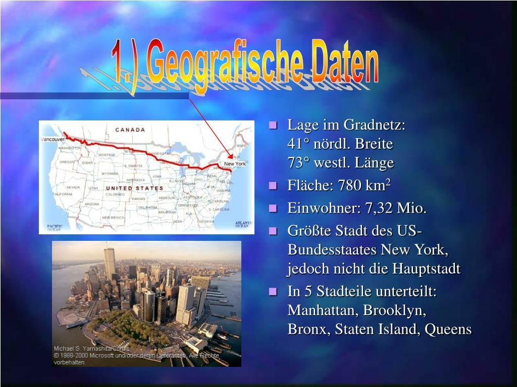 1.) Geografische Daten
