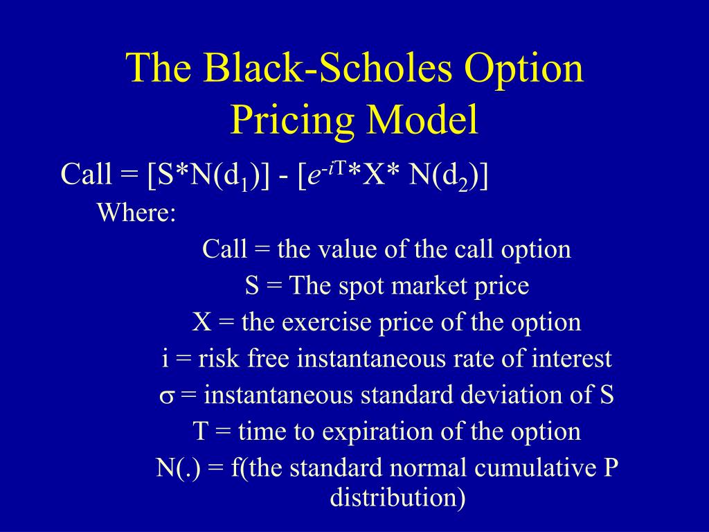 The Black-Scholes Option Pricing Model