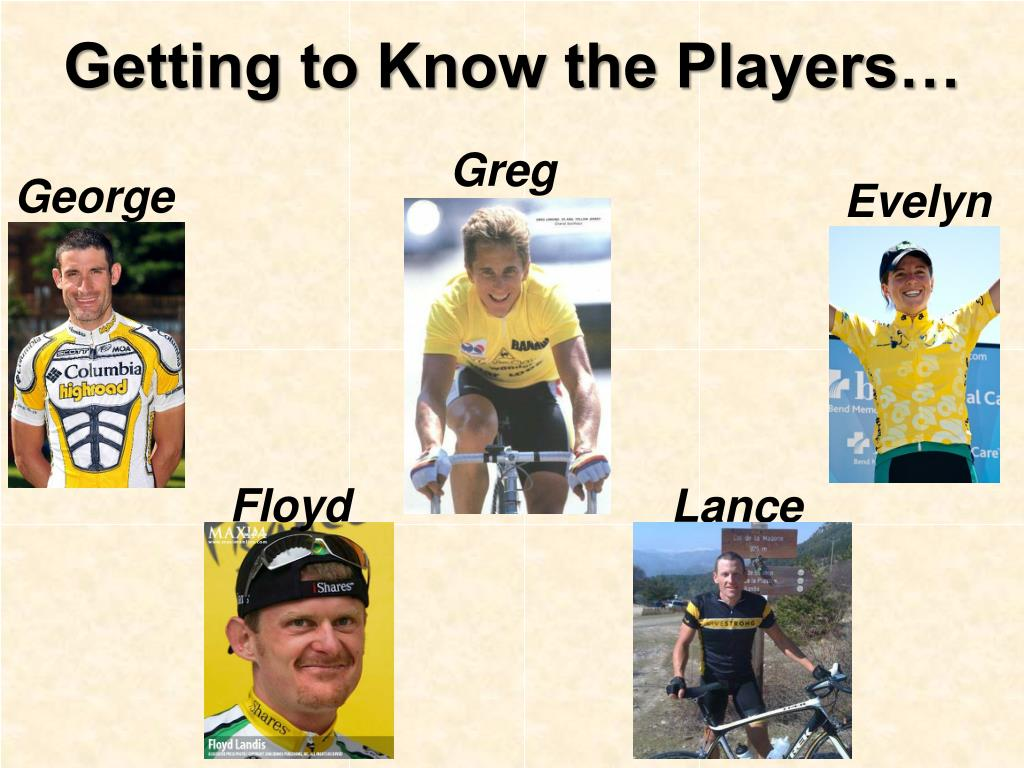 Getting to Know the Players…