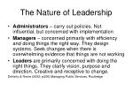 the nature of leadership13