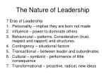 the nature of leadership14